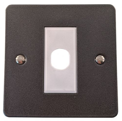 G&H FP79W Flat Plate Pewter 1 Gang Flex Outlet Plate